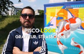 Le graffeur Pisko Logik habille un poste gaz quai Louis Pasteur à Strasbourg
